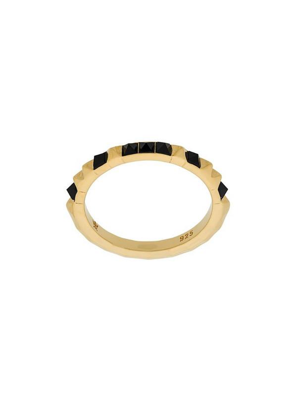 Kasun London Crocodile ring in metallic