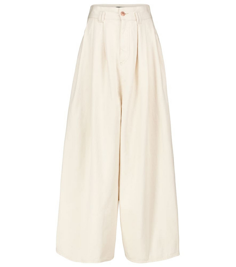 Isabel Marant Naidenae wide-leg cotton pants in white