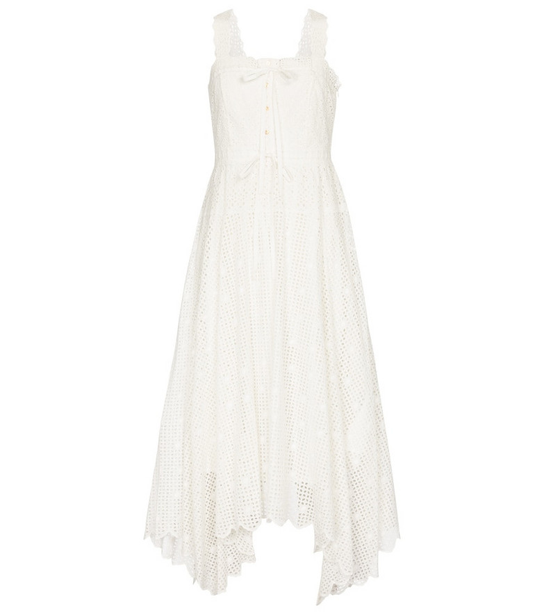Ulla Johnson Mira cotton midi dress in white