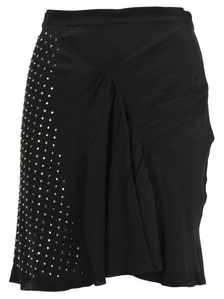 N.21 N21 Draped Embellished Mini Skirt in black