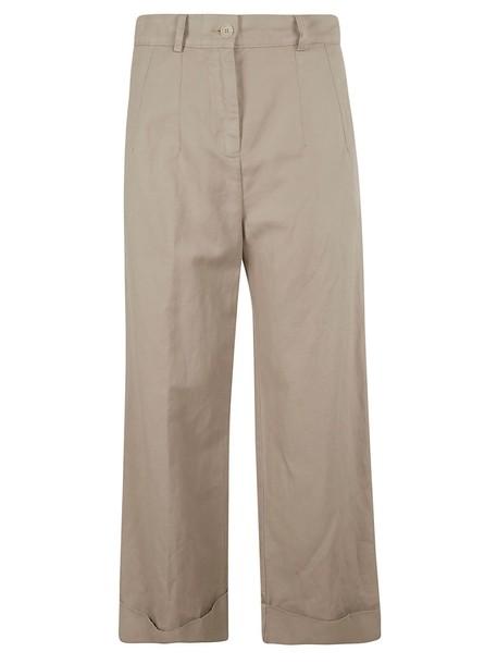 Aspesi High-waisted Trousers in beige
