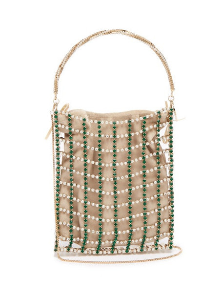 Rosantica By Michela Panero - Rousseau Crystal Caged Clutch Bag - Womens - Crystal Multi