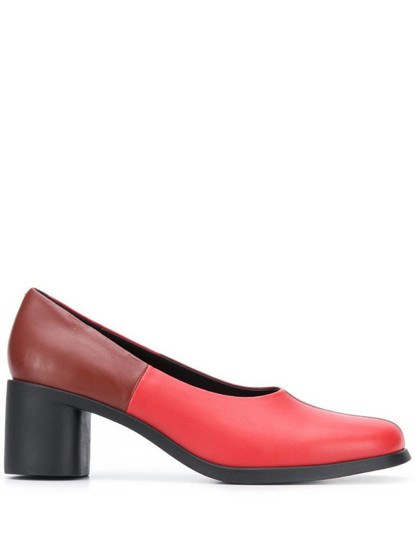 Camper TWS 60mm two-tone pumps in red
