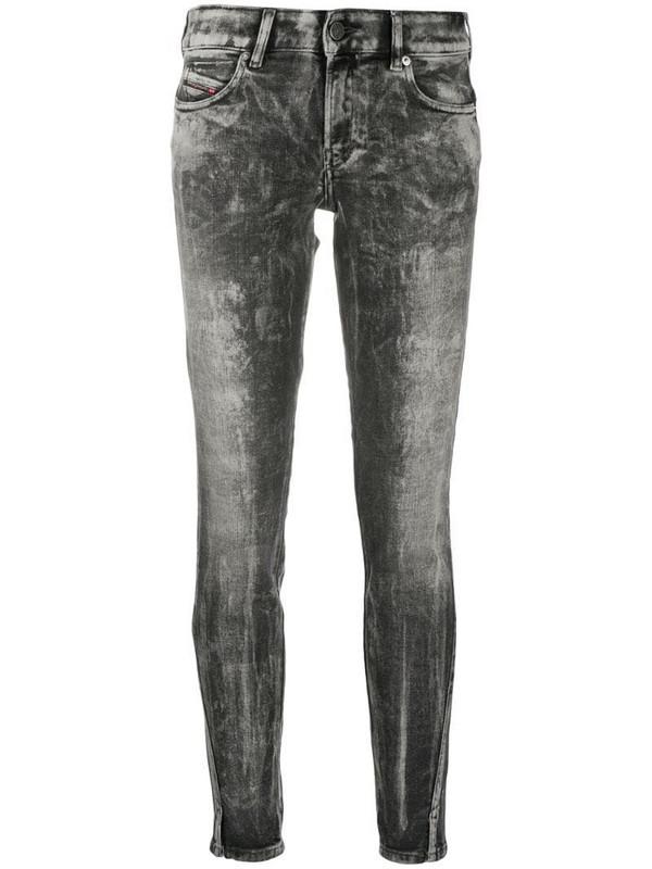 Diesel distressed skinny jeans in grey