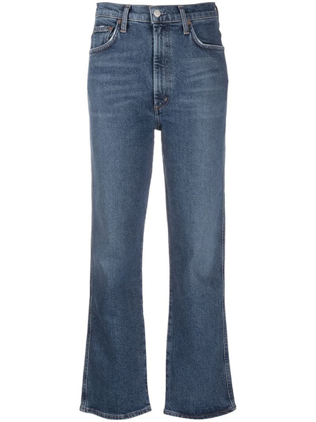 AGOLDE high-rise kick-flare jeans in blue