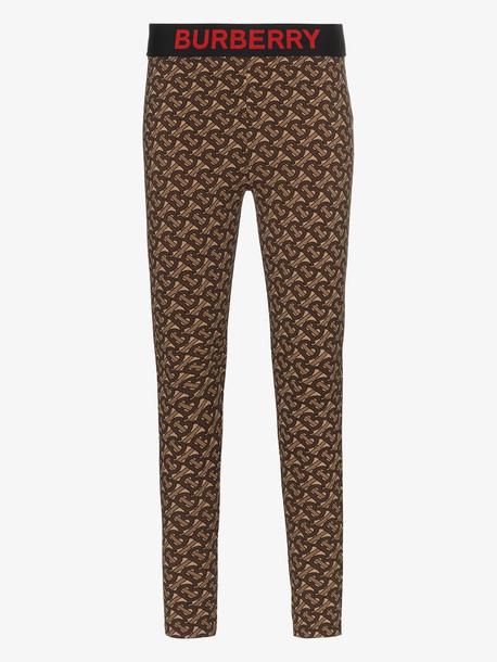 Burberry monogram print stretch leggings