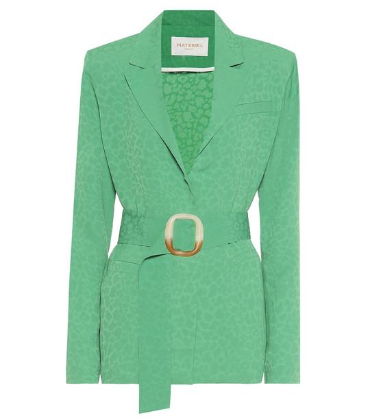 Matériel Tbilisi Jacquard blazer in green