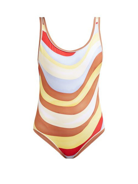 Solid & Striped - The Anne Marie Wave Print Swimsuit - Womens - Multi Stripe