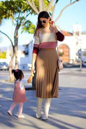 marilyn'scloset,blogger,skirt,shoes,bag,jewels,pleated skirt