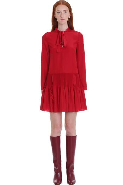 RED Valentino Dress In Red Silk