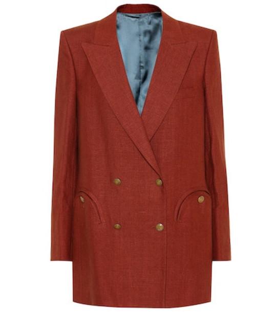 Blazé Milano Midday Sun Everyday linen blazer in red