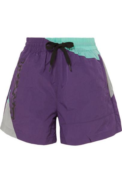 alexanderwang.t - Color-block Shell Shorts - Purple