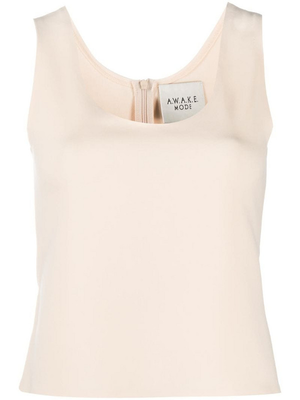 A.W.A.K.E. Mode U-neck fitted vest in neutrals