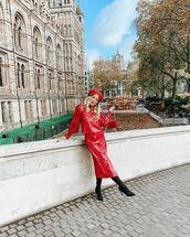 skirt,midi skirt,red skirt,sequin skirt,sequins,top,set,asos,black boots,bag,beret