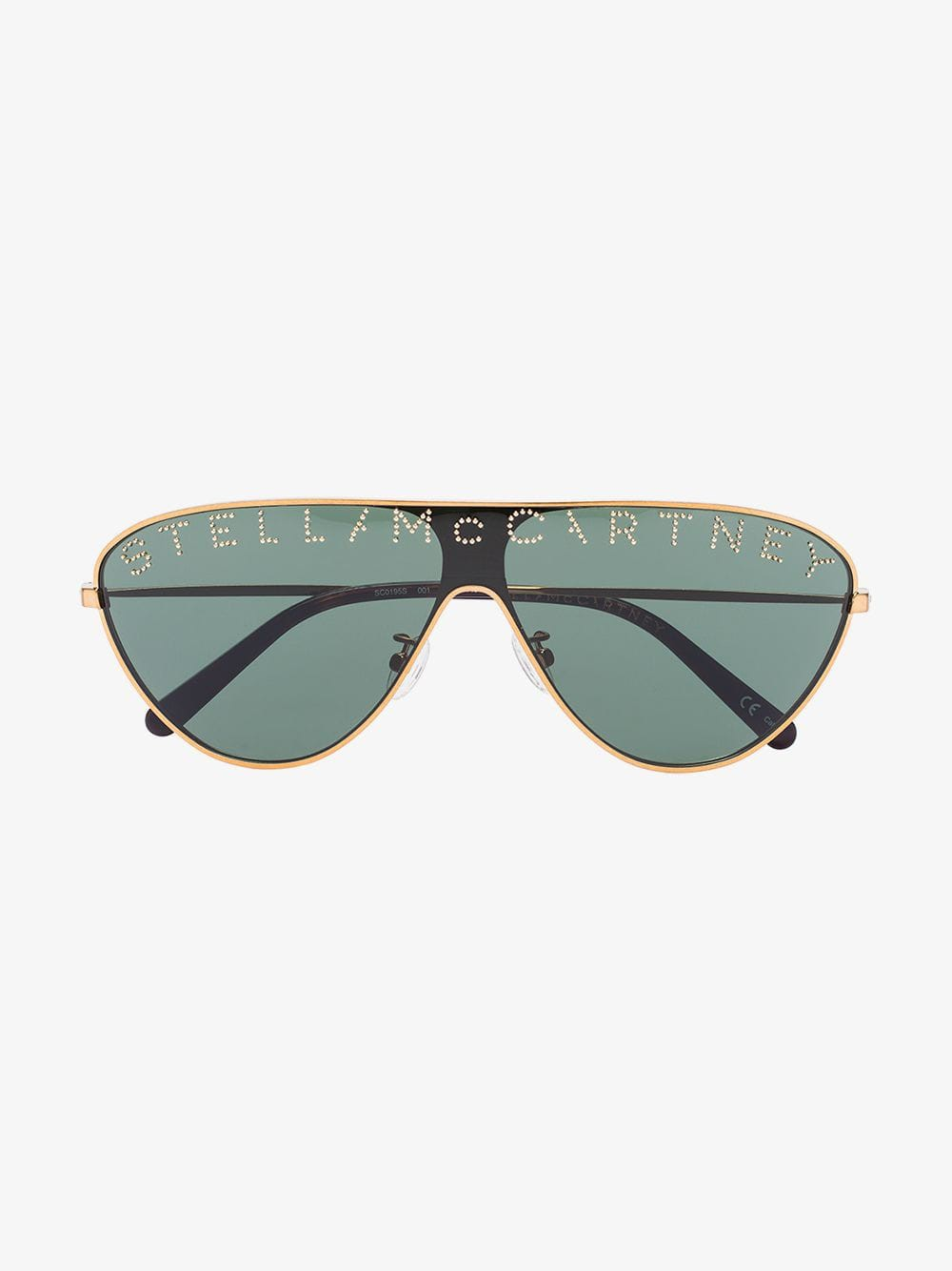 Stella McCartney Eyewear Logo aviator sunglasses in gold