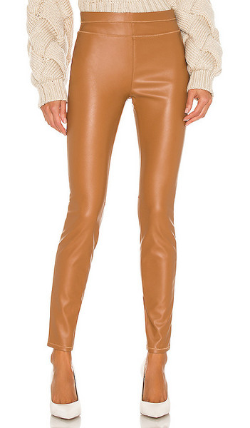 BLANKNYC Skinny Faux Leather Pant in Tan in camel