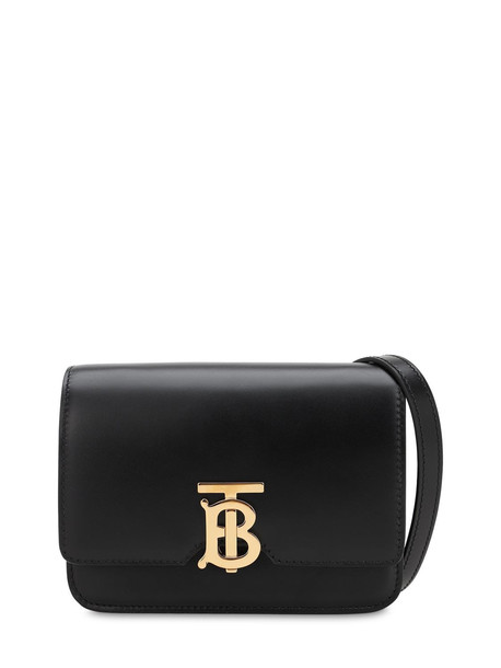 BURBERRY Mini Tb Leather Shoulder Bag in black