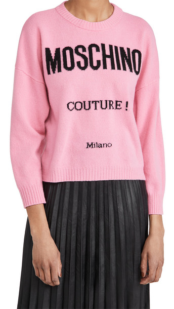 Moschino Sweater in fuchsia / print