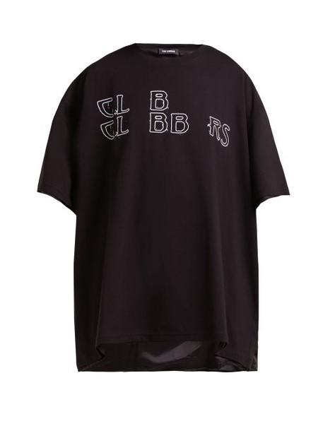 Raf Simons - Clubbers Cotton Jersey T Shirt - Womens - Black