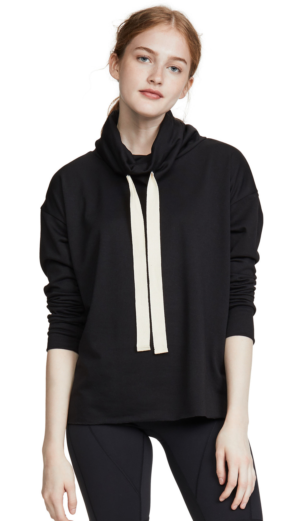 Onzie Cowl Neck Top in black