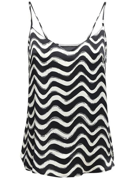STELLA MCCARTNEY Violet Printed Satin Camisole Top in black / white