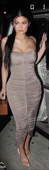 dress,grey dress kylie jenner