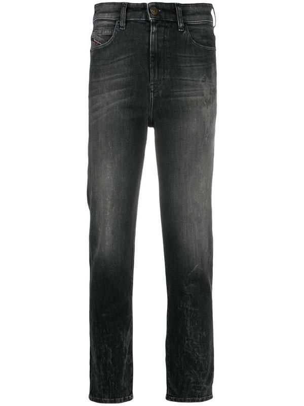 Diesel D-Eiselle straight leg trousers in black
