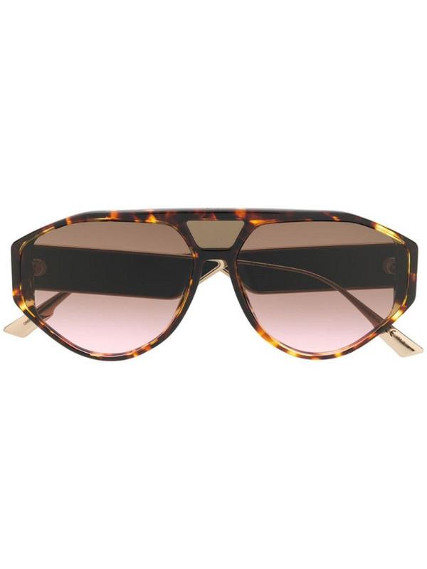 Dior Eyewear DiorClan1 aviator-frame sunglasses in brown