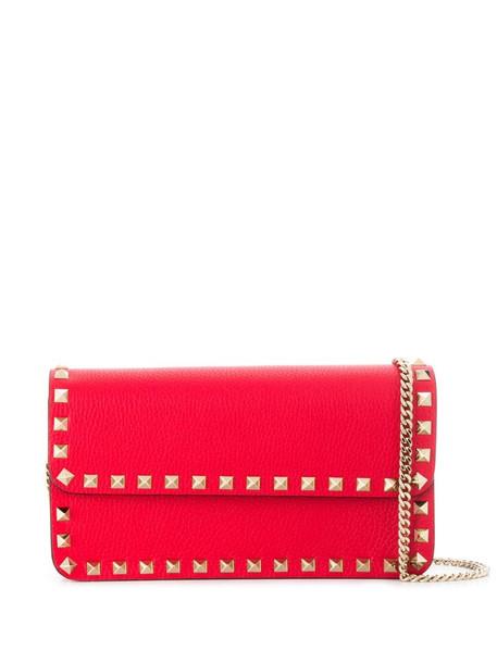 Valentino Garavani Rockstud cross-body bag in red