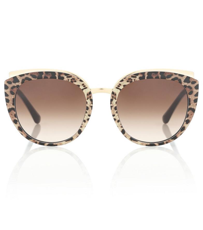 Dolce & Gabbana Cat-eye acetate sunglasses in brown