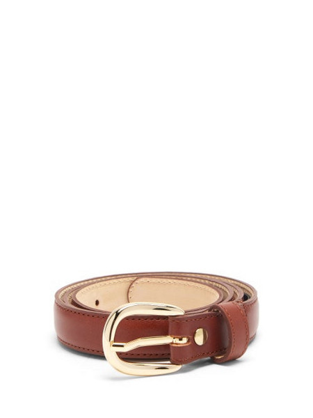 A.P.C. A.P.C. - Rosette Leather Belt - Womens - Tan