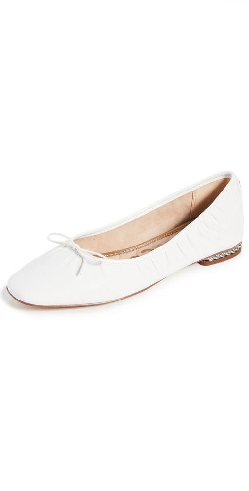 Sam Edelman Meg Flats in white