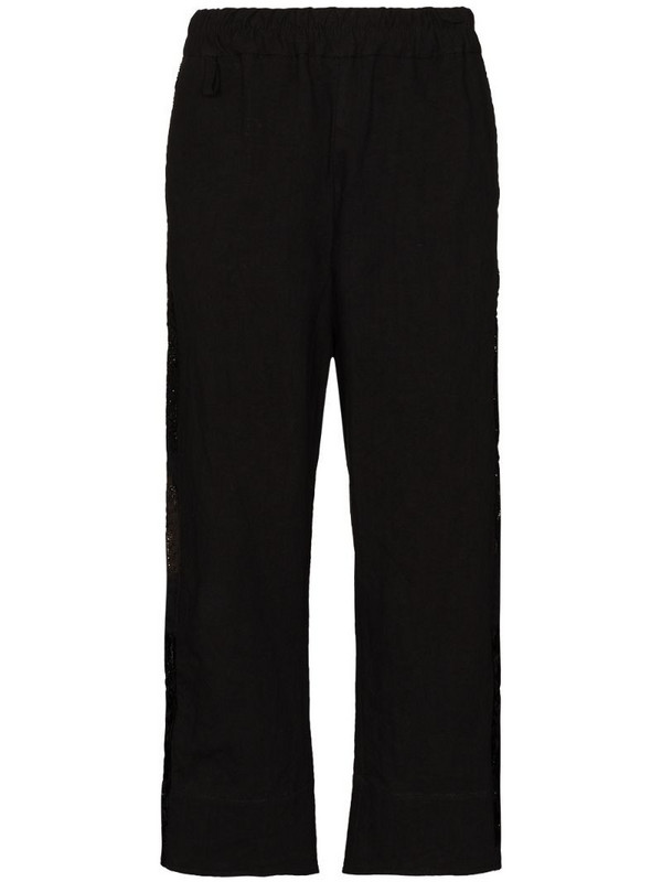 By Walid Jeremy cropped trousers in black