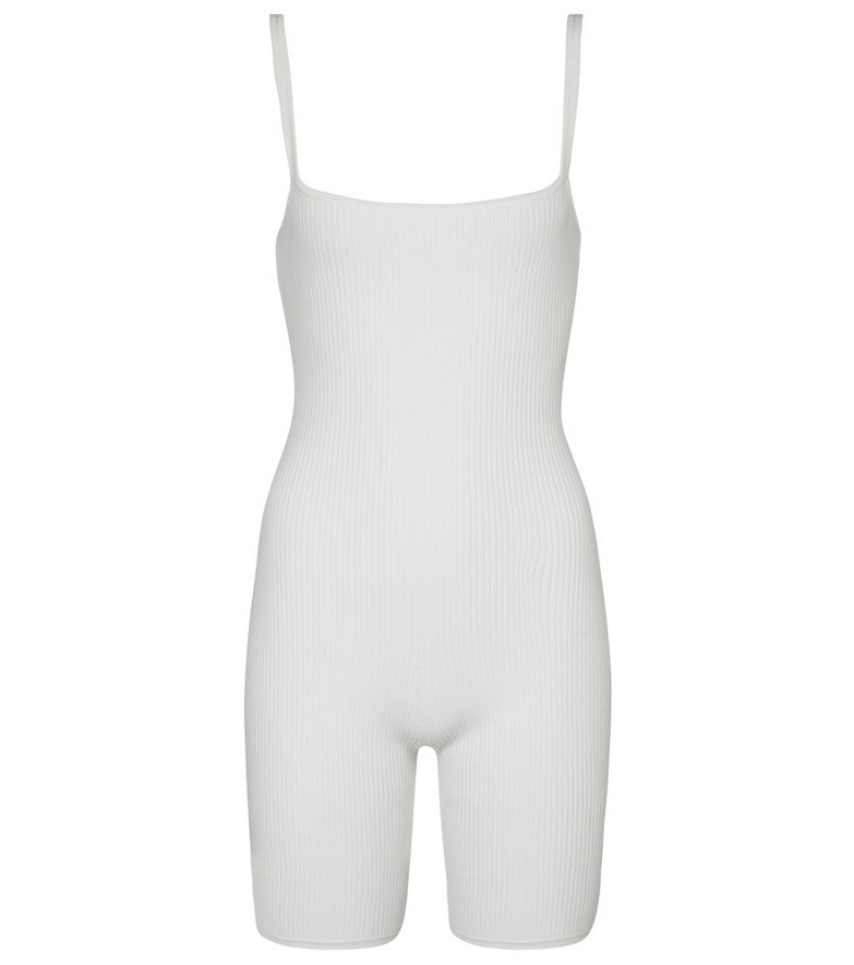 SIR Agnes ribbed-knit jumpsuit in white