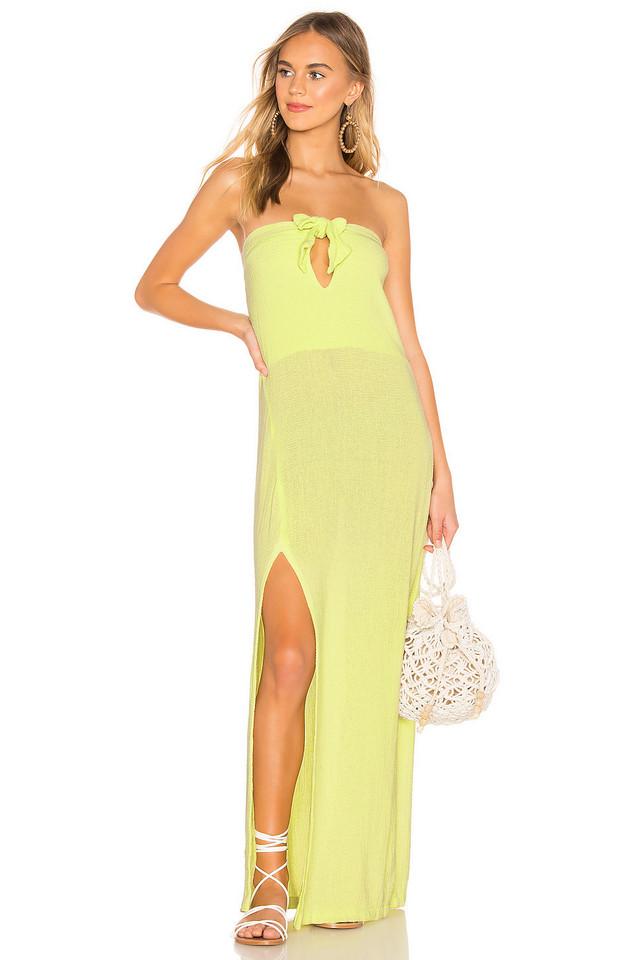 Cali Dreaming Obi Dress in yellow
