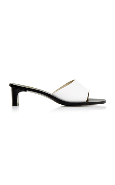 ATP Atelier Peonia Vachetta Leather Mules Size: 39 in white
