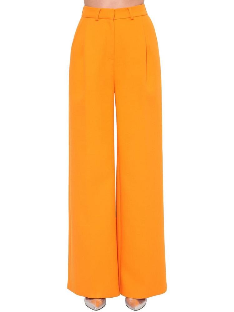 ANNAKIKI High Waist Wide Leg Wool Blend Pants in orange