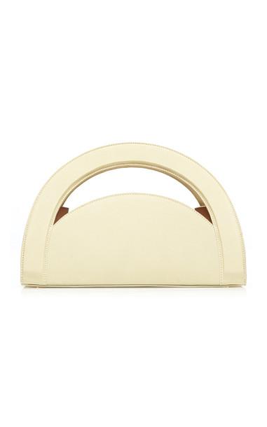 Rejina Pyo Arc Leather Top Handle Bag in green