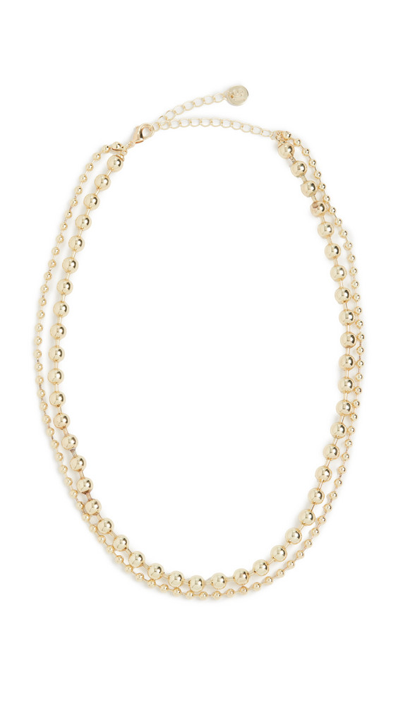 Jules Smith Ball Chain Layered Necklace in gold