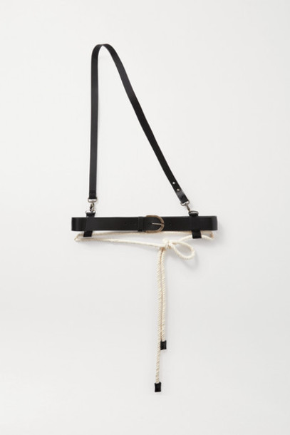 Ann Demeulemeester - Rope And Leather Belt - Black