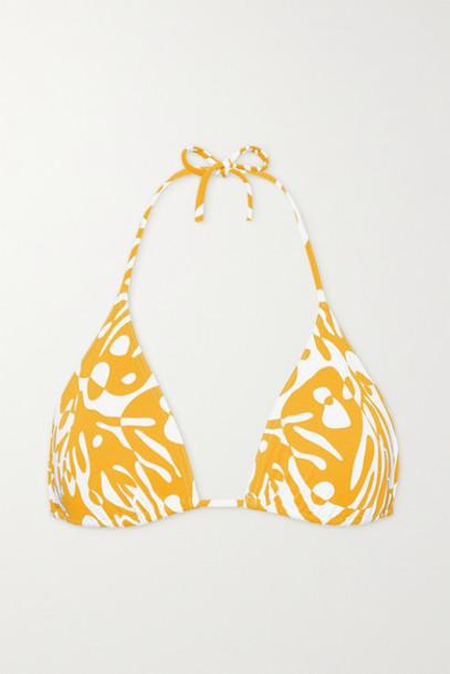 Eres - Starfish Printed Triangle Bikini Top - Saffron