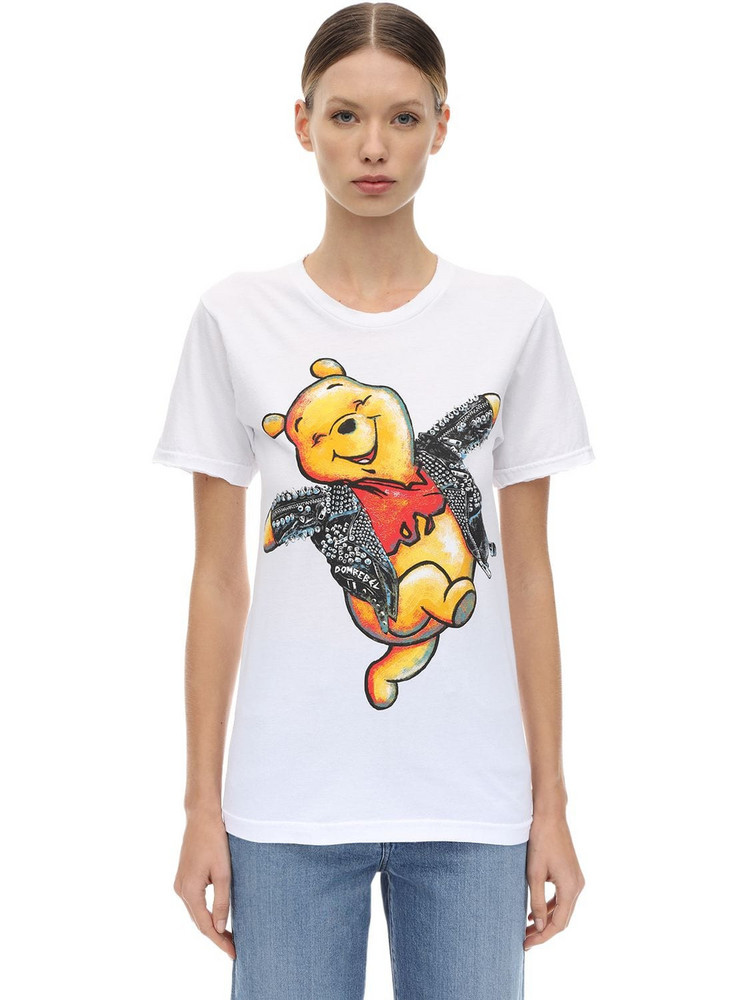 DOMREBEL Winnie The Pooh Cotton Jersey T-shirt in white