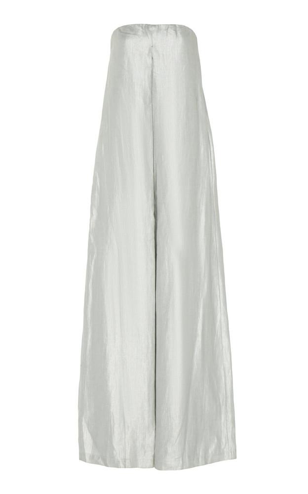 White Story Operato Linen Wide-Leg Jumpsuit in silver