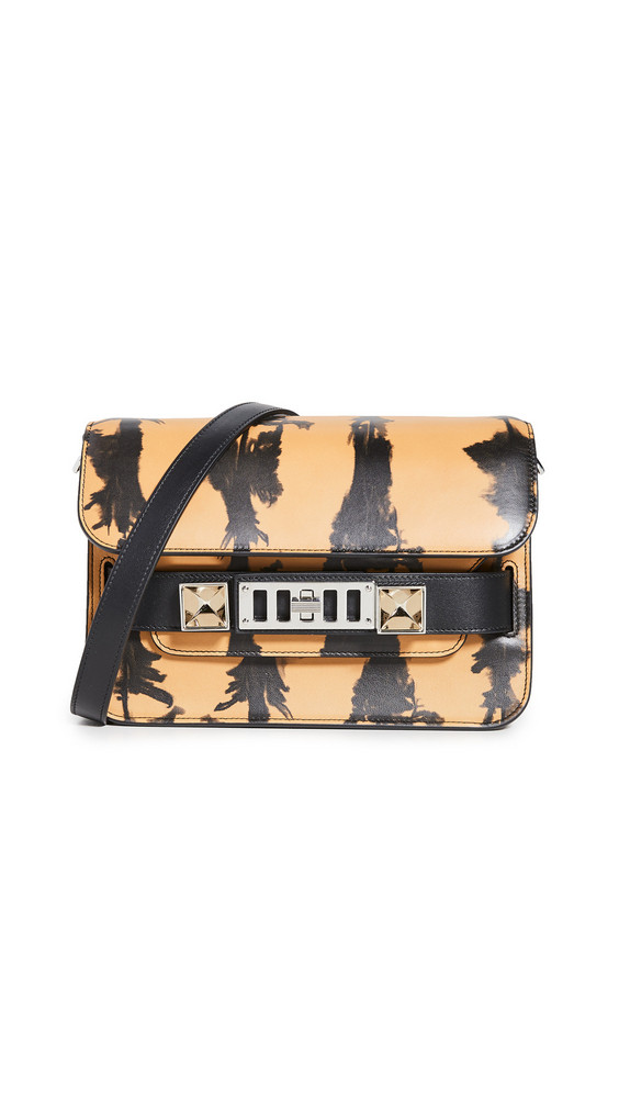Proenza Schouler PS11 Mini Classic Bag in black / camel