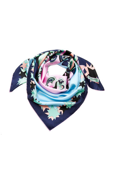 Emilio Pucci Printed Silk Scarf in blue