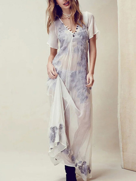 dress mynystyle mesh white boho embroidered summer outfits