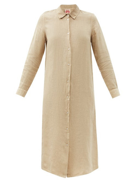 Le Sirenuse, Positano - Dove Lightwind Linen Shirt Dress - Womens - Beige