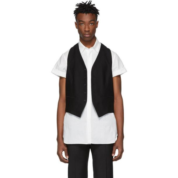 Ann Demeulemeester Black Wool Vest