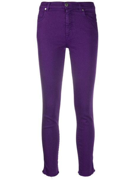 Pt01 high-rise skinny jeans in purple