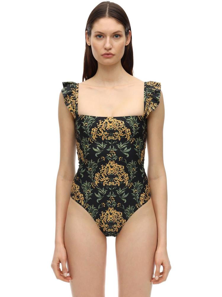 AGUA BY AGUA BENDITA Araguanes Nativa One Piece Swimsuit in black / multi